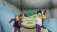 Ryuji and Rin running from Reaper