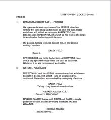 Disavowed script