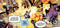 Blaze fighting Robot Masters