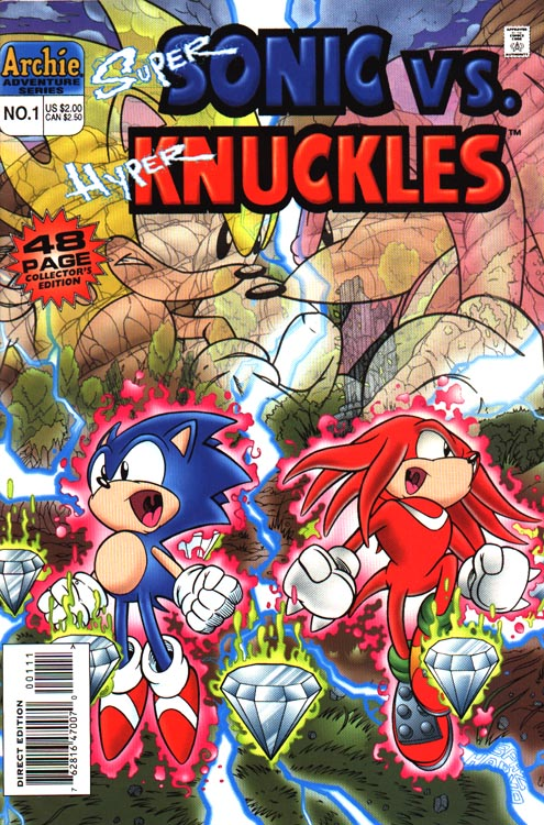 Super Knuckles vs Super Sonic Super Sonic vs Hyper Knuckles