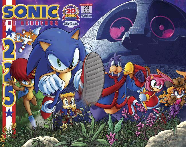 Archie Sonic The Hedgehog Issue 225 Mobius Encyclopaedia