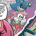 Metal Sonic kidnaps Amy