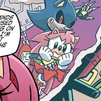 Metal Sonic kidnaps Amy