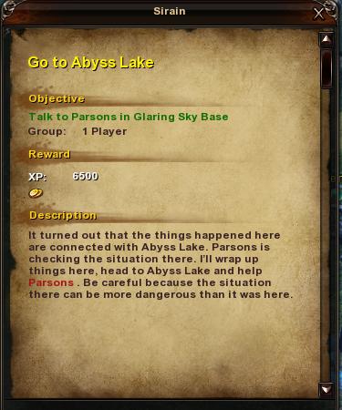 85 Go to Ablyss Lake
