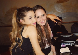 Photo of Ariana Grande & her friend  Alexa Luria - Childhood