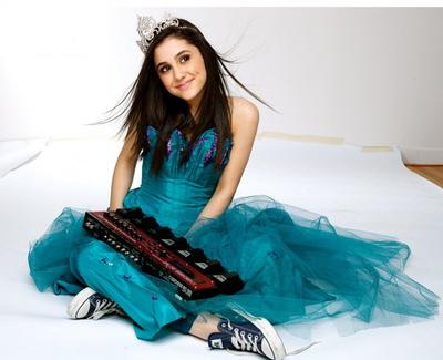 File:Ariana posing in blue dress.jpg