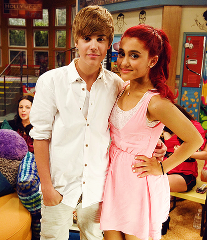 File:Justin Bieber and Ariana Grande on Victorious.png