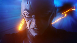 The Flash runs through the Speed Force