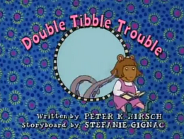 Double Tibble Trouble Title Card