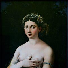 <b>年轻女子肖像</b><br />(La Fornarina)<br /> <a href=