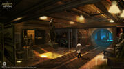 Assassin's Creed IV Black Flag Abstergo Entertainment interior 5 Concept Art by EddieBennun