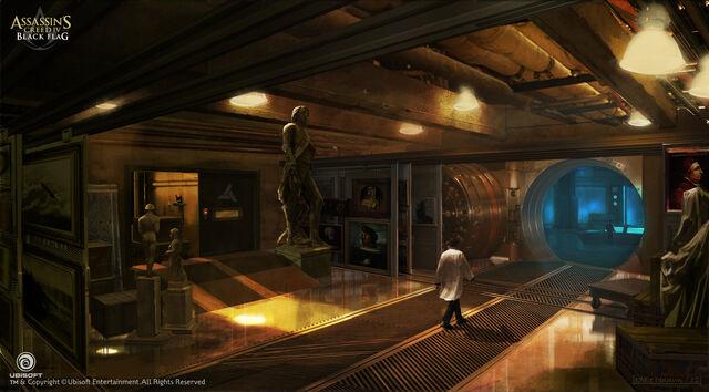 File:Assassin's Creed IV Black Flag Abstergo Entertainment interior 5 Concept Art by EddieBennun.jpg