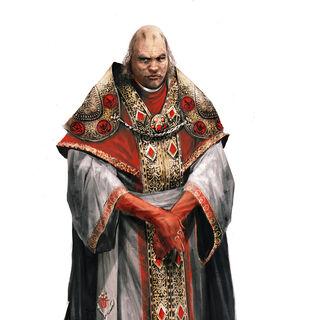 罗德里格原始设定图:成为教皇后。