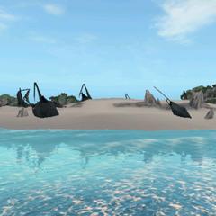 在惡魔之石海岸上的船骸