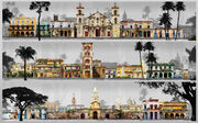 Assassin's Creed IV Black Flag Havana city landmarks set by Donglu