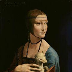 <b>抱银貂的女子</b><br />(Lady with an Ermine)<br /> 达芬奇