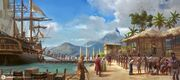 AC4BF Slave Trade in Port-au-Prince - Concept Art