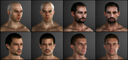 Thief NPCs face models by Michel Thibault