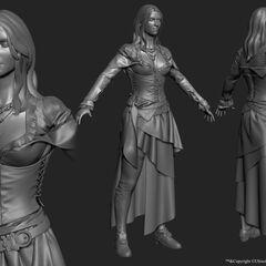 3D model of Anne