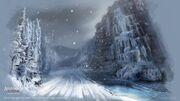 New York outskirts - The frozen waterfalls - by EddieBennun