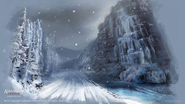 File:New York outskirts - The frozen waterfalls - by EddieBennun.jpg