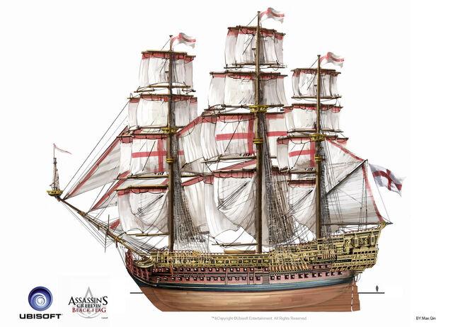 File:Assassin's Creed IV Black Flag -Ship- BritishMilitaryNavalShips RoyalSovereign by max qin.jpg