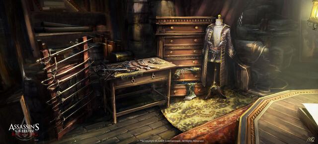 File:Assassin's Creed IV Black Flag -Jackdaw - Design- Captain's quarter mannequin design by max qin.jpg