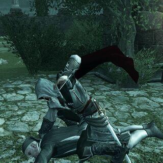 Ezio ending Jacopo's suffering.