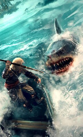 File:AC4 Shark Battle - Concept Art.jpg