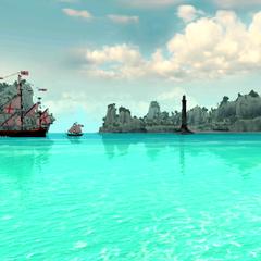 皇家海军在水域中航行