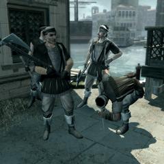 威尼斯境内的一队雇佣兵