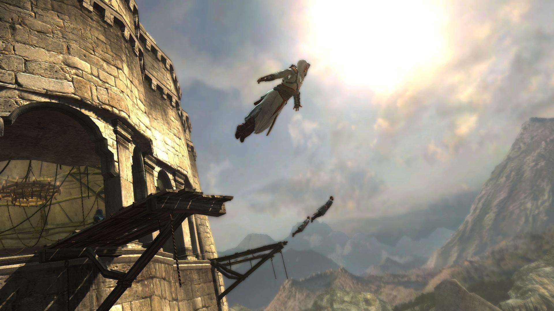 Как сделать прыжок веры в assassins creed unity