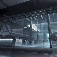 阿布斯泰戈工业设施内部。