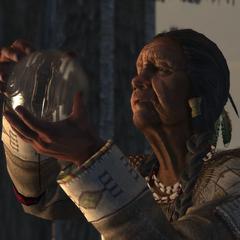 族母拿着水晶球