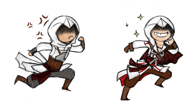 File:Altair and Ezio by DelasShadow.png