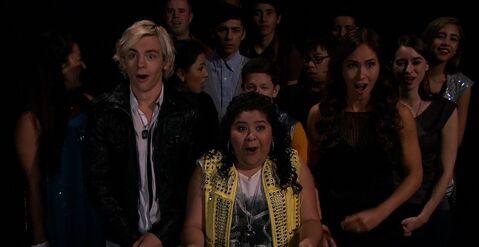 Austin, Trish and Sheila's surprise