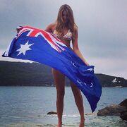 Bikini-babe-Laura-Dundovic-posed-Australian-flag-Australia