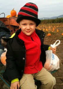 London McCabe with Pumpkins
