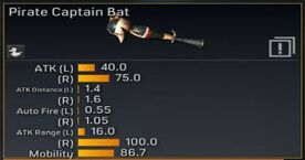 Pirate Captain Bat stats