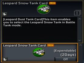 Leopard Snow Tank Card