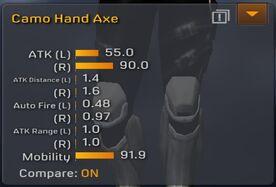 Camo Hand Axe stats