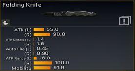 Folding Knife stats
