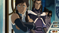Korra learns of Tonraq's decision