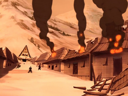 Damaged Kyoshi village