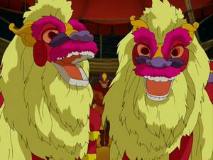 Circus dragon performers