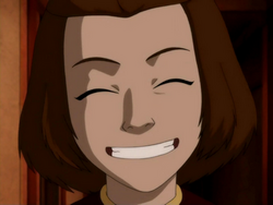 Suki grins
