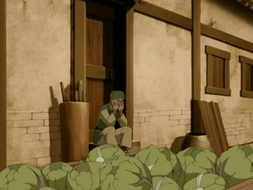 Cabbage merchant sobbing