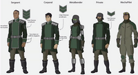 Kuvira's army uniforms