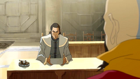 Tarrlok proposing the task force