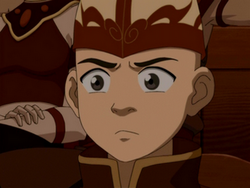 Aang watches the play